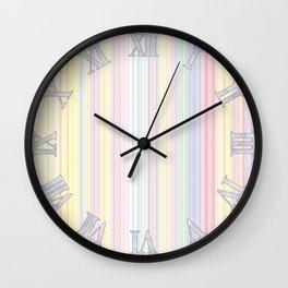 Happy Dream -Elegant Colorful stripe- Wall Clock