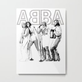 AGNETHA, BENNY, FRIDA, BJORN Metal Print