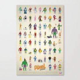 Pixel Nostalgia Canvas Print