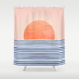 Summer Sunrise - Minimal Abstract Shower Curtain