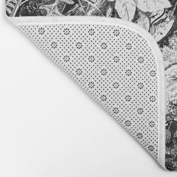 Inky Undergrowth Bath Mat