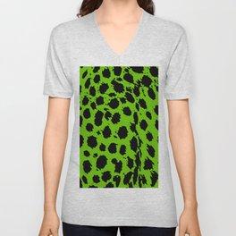 Cheetah Lime Green  Unisex V-Neck