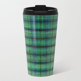 Forest Straw Plaid On Frozen Lake Travel Mug