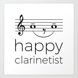 Happy clarinetist (light colors) Art Print