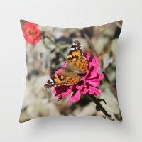 Butterfly Whisper Throw Pillow