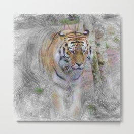Artistic Animal Tiger Metal Print