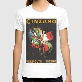 Vintage 1920 Cinzano Advertisement by Leonetto Cappiello T-shirt