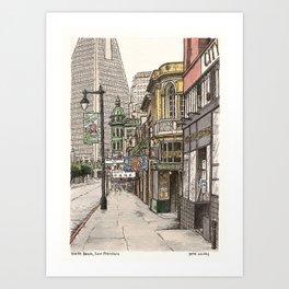 North Beach, SF Art Print