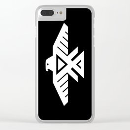 Thunderbird flag - HQ file Inverse version Clear iPhone Case