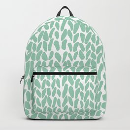 Hand Knit Zoom Mint Backpack