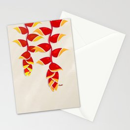 Lobster Claw Heliconia Stationery Cards