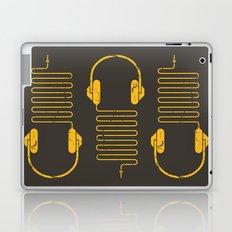 Gold Headphones Laptop & iPad Skin