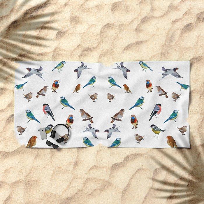 I love birds Beach Towel