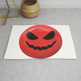 Red face design Rug
