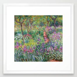 The Iris Garden at Giverny by Claude Monet Framed Art Print