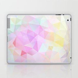 Abstract print of triangles, polygon in pastel colors Laptop & iPad Skin