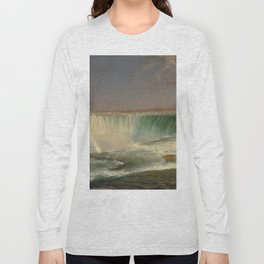 Frederic Edwin Church Niagara 1857 Painting Long Sleeve T-shirt