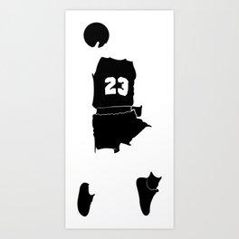 Faceless Basketball MJ Jordan Art Print