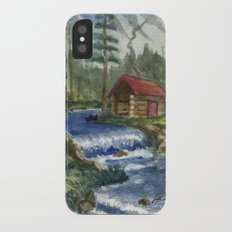 Peaceful Cabin Slim Case iPhone X