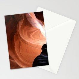 Antelope Canyon Reddish And Blue Tones Stationery Cards