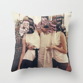 Two Mucho Make Up Throw Pillow