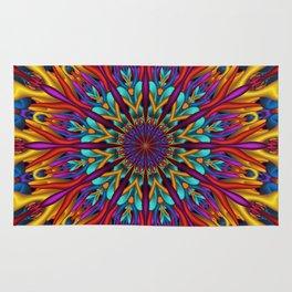 Amazing colors 3D mandala Rug
