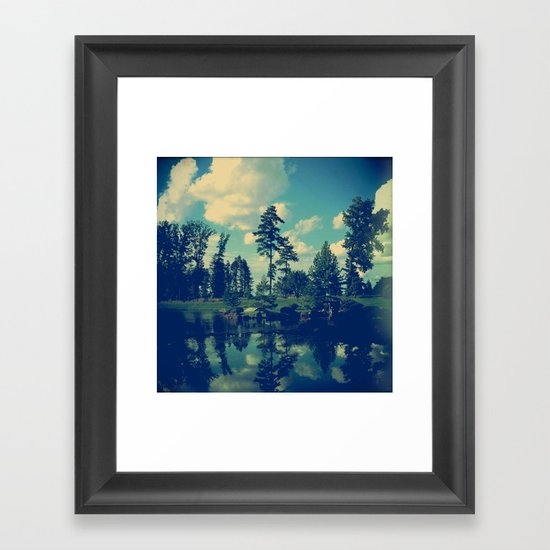 Yesterday Evening at the Lake Framed Art Print