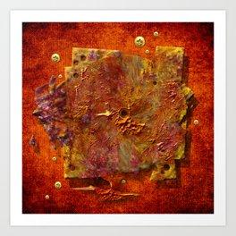 Abstract disc Art Print