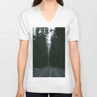 yosemite V-neck T-shirts featuring Yosemite  by Andre Elliott
