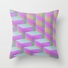 Fade Cubes II Throw Pillow