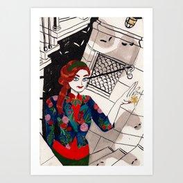 Urban Witch: Light Art Print