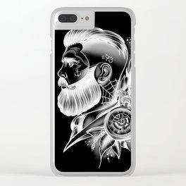Beard Gentleman Clear iPhone Case