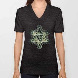 Sacred Geometry for your daily life -  Platonic Solids - IGNIS Unisex V-Neck