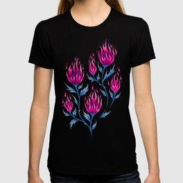 Fire Flower - Dark Pink T-shirt