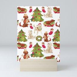 Whimsical All Dog Breeds Are Celebrating Christmas Mini Art Print
