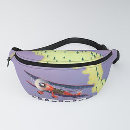 Euboea Greece travel poster Fanny Pack