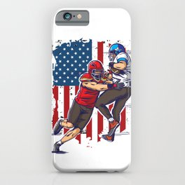 Two Football Player In Action iPhone Case