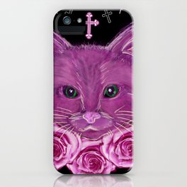 Cat Rose Garden iPhone Case