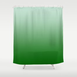 Pastel Green to Green Horizontal Linear Gradient Shower Curtain
