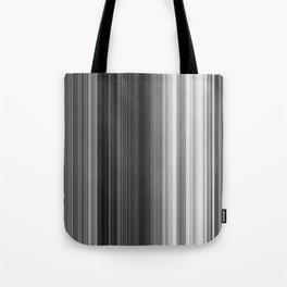 Black White Gray Thin Stripes Tote Bag