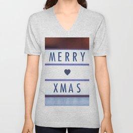 Merry Xmas Unisex V-Neck