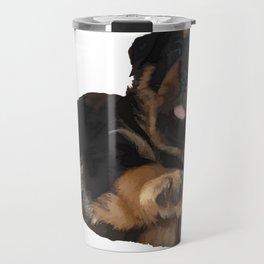 Cute Rottweiler Puppy Vector Travel Mug