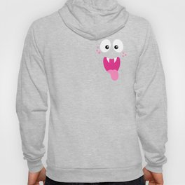 Funny Monster Face Cute Halloween Design Hoody