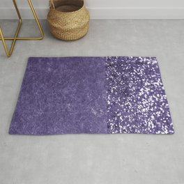 Ultra Violet Glitter Meets Ultra Violet Concrete #1 #decor #art #society6 Rug
