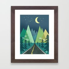 The Long Road at Night Framed Art Print