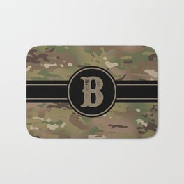 Camouflage Monogram: Letter B Bath Mat