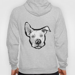RESCUE ME Pit Bull Pitbull Dog Pop Art black and White Painting by LEA Hoody