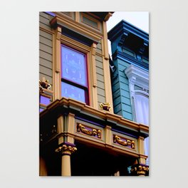 Grand Dame With Old Blue Canvas Print