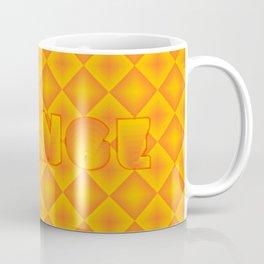 Orange diamond pattern 70's disco style Coffee Mug