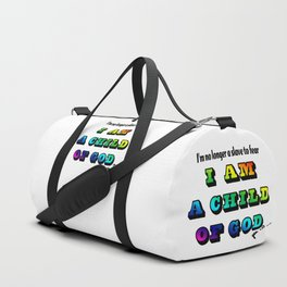 I am a Child of God-Style 2 Graphic Design Duffle Bag